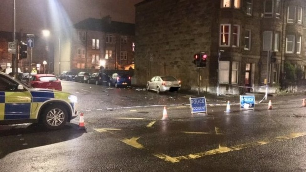 Pedestrian dies in hospital after two-car crash