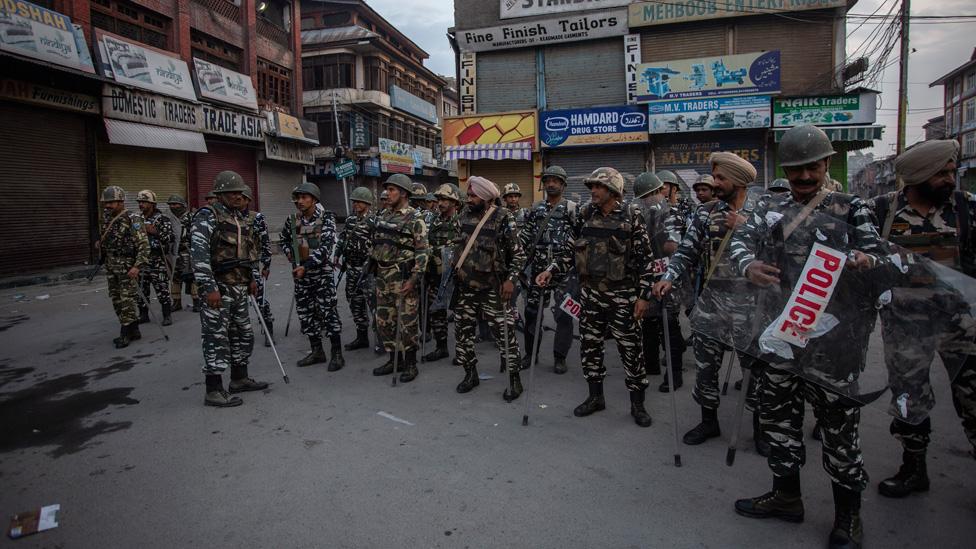 Soldiers in Srinagar