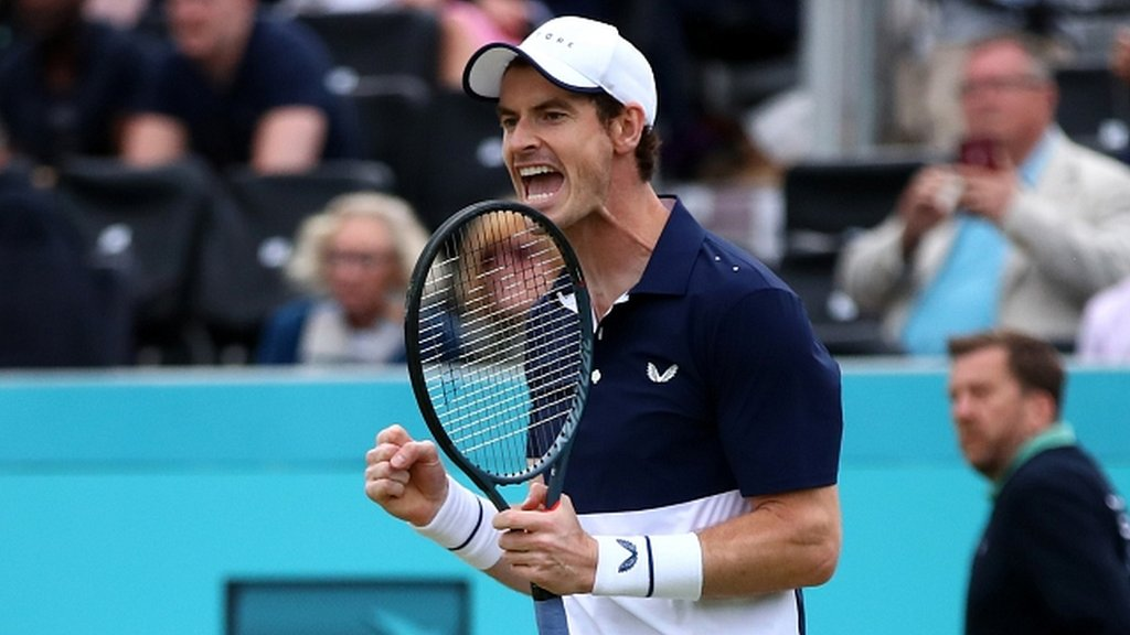 Andy Murray makes winning return in doubles at Queen's