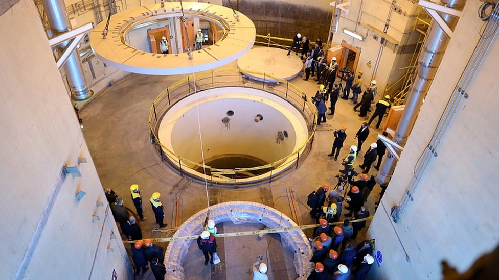 A view of the heavy-water nuclear reactor at Arak, Iran December 23, 2019