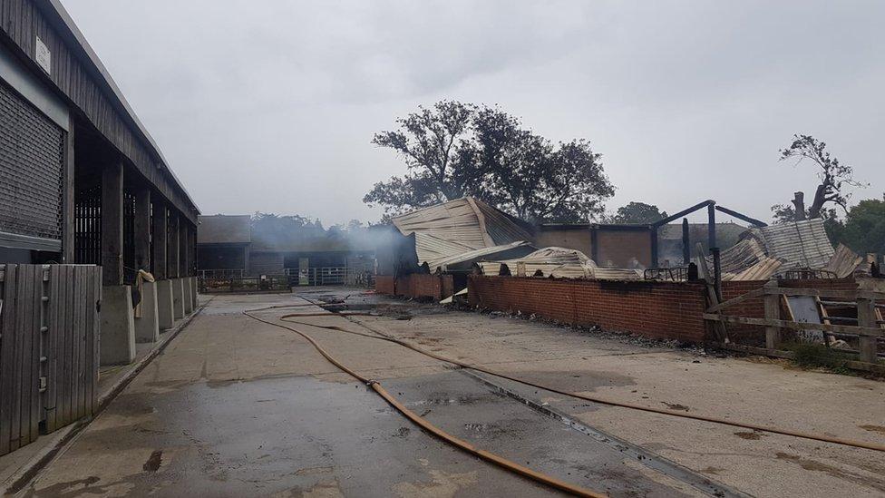 Fire ravages George Harrison temple barn