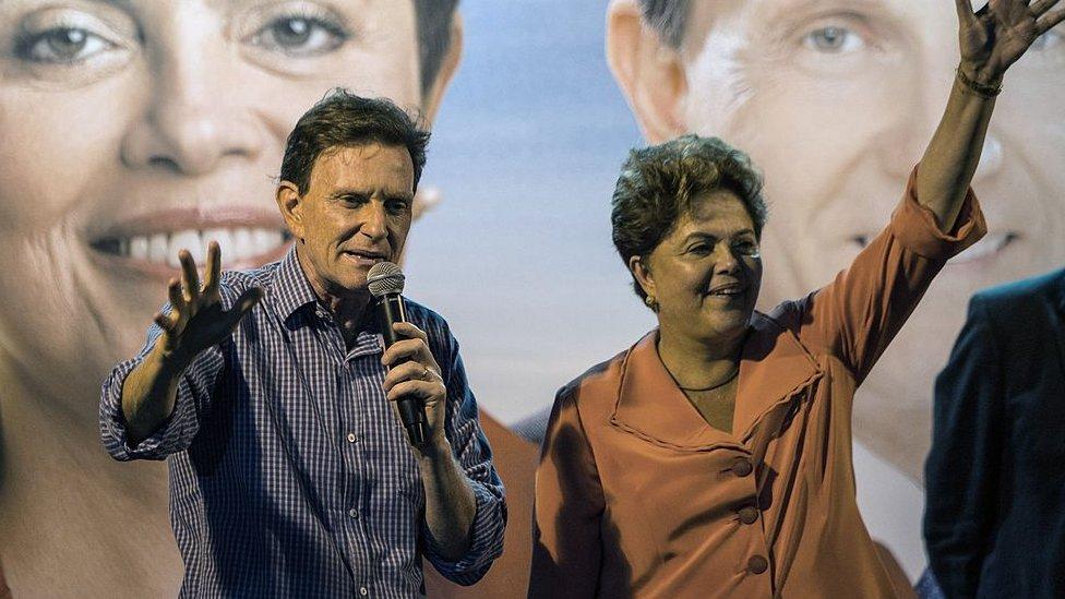 Elcalde de Río de Janeiro, Marcelo Crivell, con Dilma Rousseff