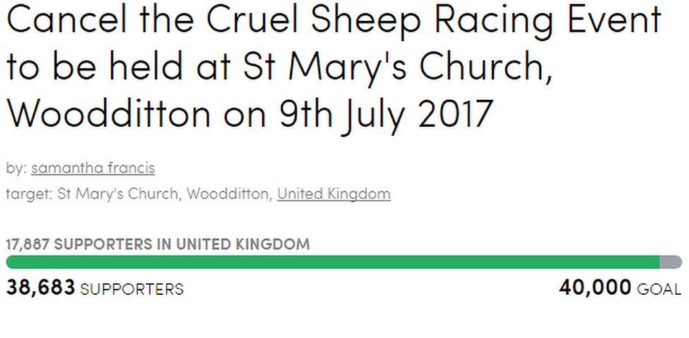 sheep race petition