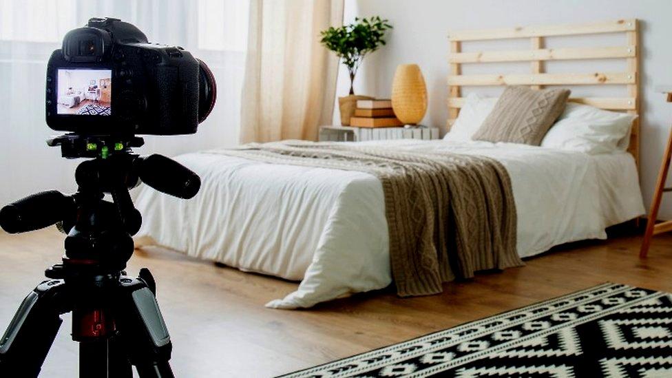 Cámara en un dormitorio