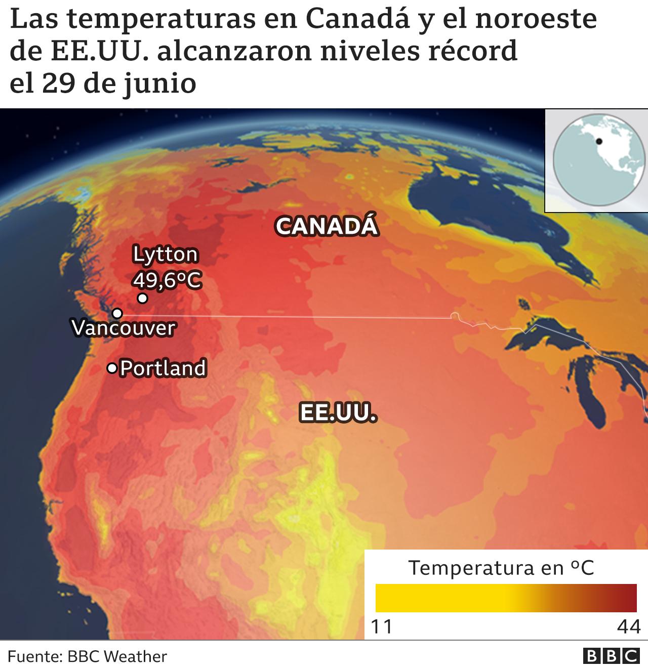 Ola de calor mapa