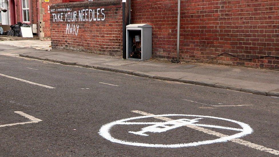 Anti-drug graffiti appears in Reading