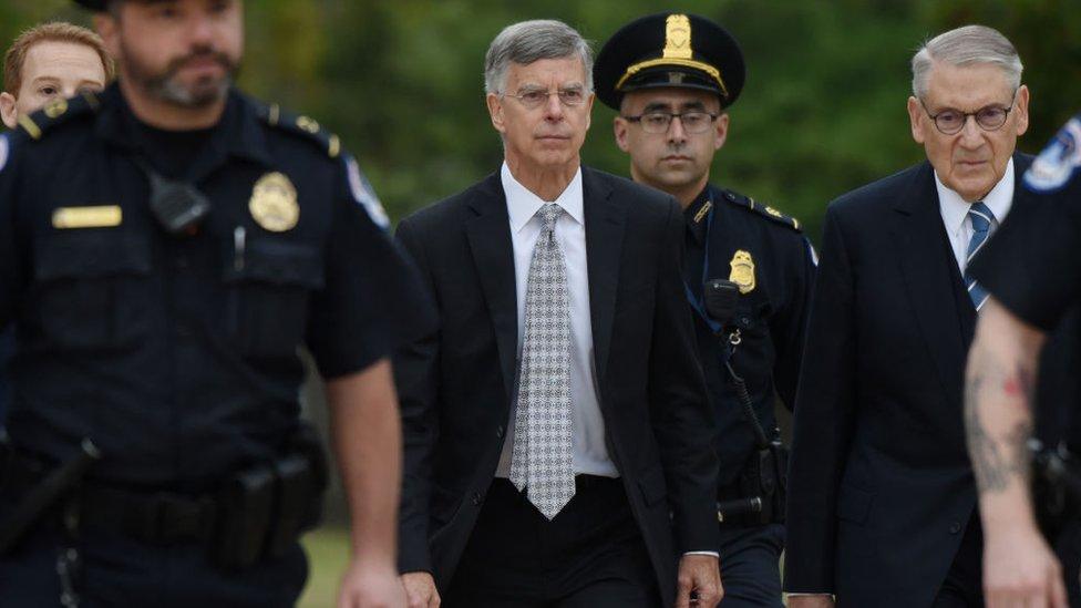Acting US Ambassador to Ukraine Bill Taylor is testifying to Congress