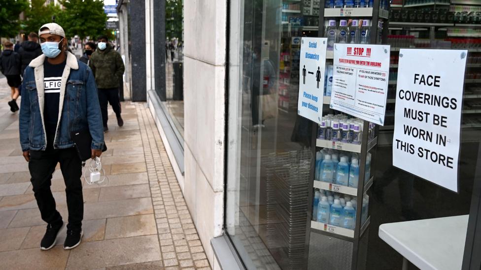 Shoppers in Preston