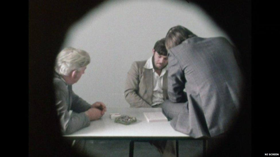 Interview scene