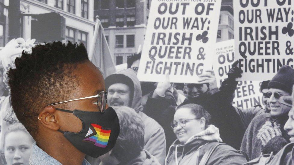 Christelle Gebhard en el lanzamiento de Out in the World: LGBTQ + Diaspora de Irlanda en Epic, The Irish Emigration Museum