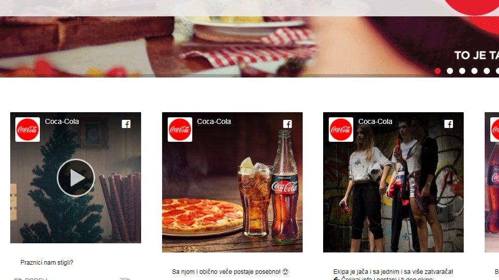 Video (prvi s leva) postavnjen je na sajt Koka-kole
