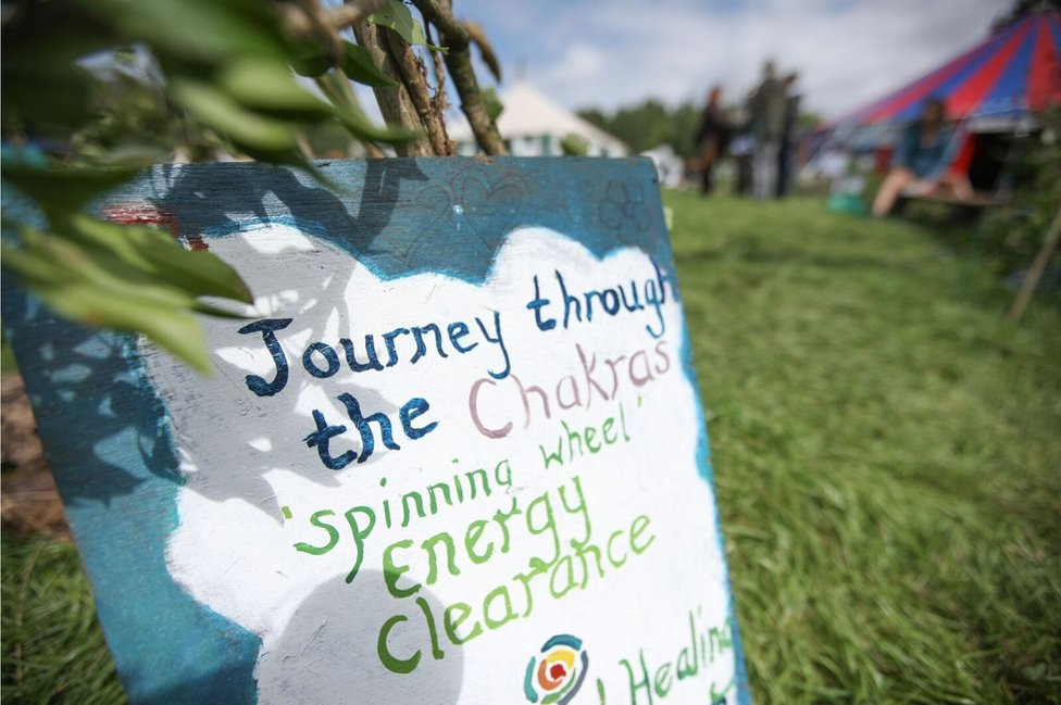 Workshops on offer in the Healing Field included Communicating with Fairies, Speed Date Heart Dowsing, How to Tame Your Dragon and a Journey through the Chakras.