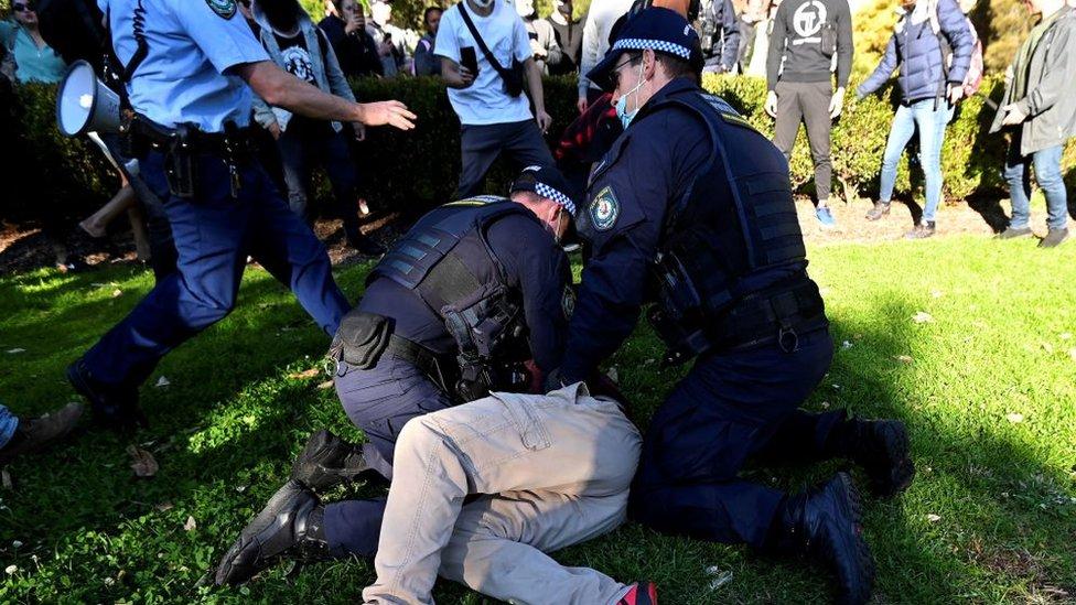 Protesta en Sídney