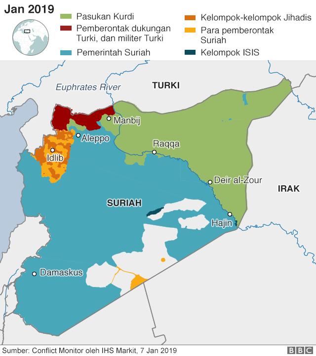 Siapa menguasai mana di Suriah