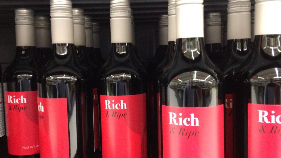 wine at asda