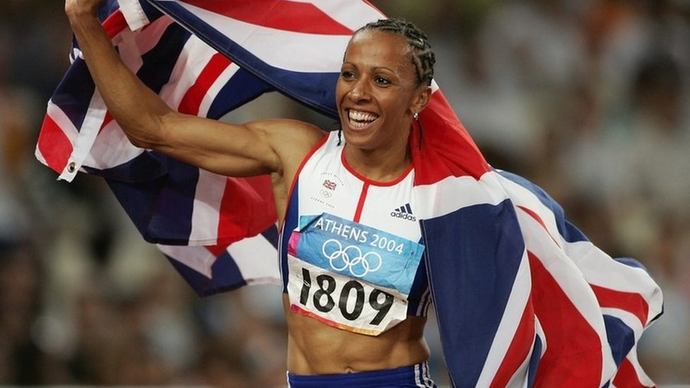 Dame Kelly at the 2004 Olympics