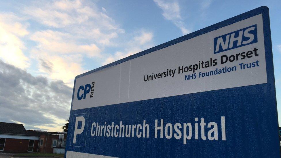 University Hospitals Dorset sign
