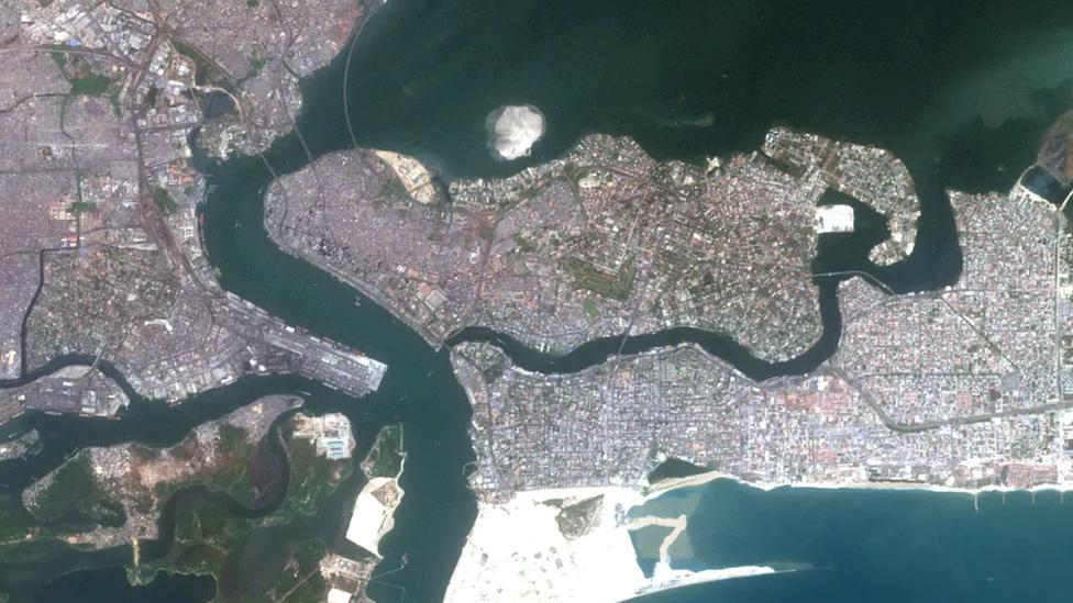 Imagen aérea de Lagos