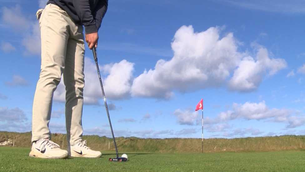 Golfer on Westray