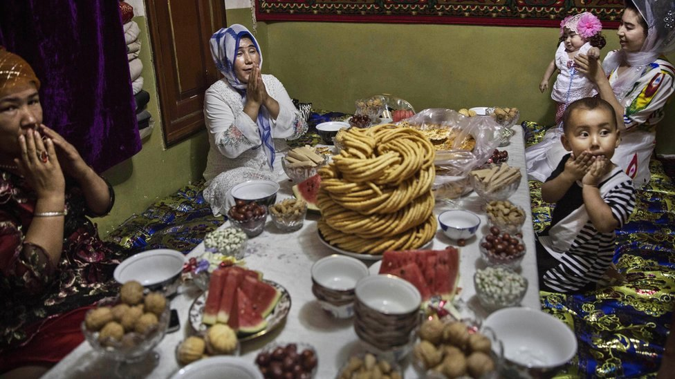 Family getting ready for Eid feast
