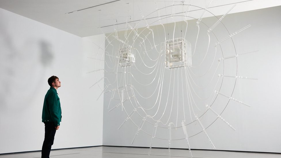 Cerith Wyn Evans' glass pipes win £30,000 Hepworth Prize for Sculpture
