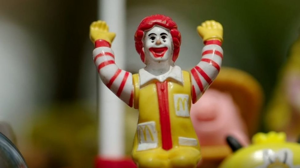 Ronald McDonald plastic toy