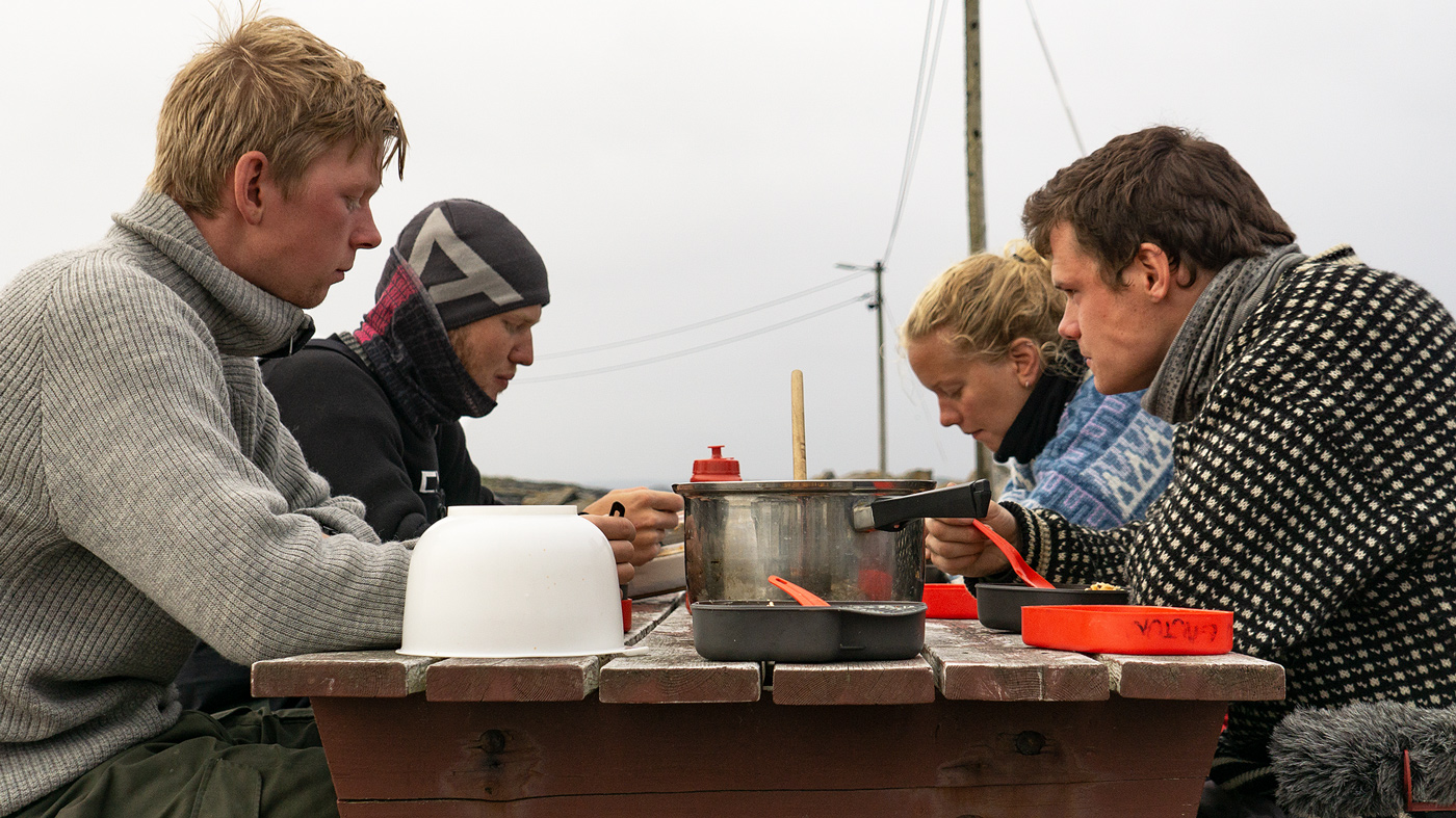 Nature and Youth members Audun Karlstad, Thor Due, Susanne Storaker and August Toven Gautun on an expedition to Bear Island, Norway in 2018