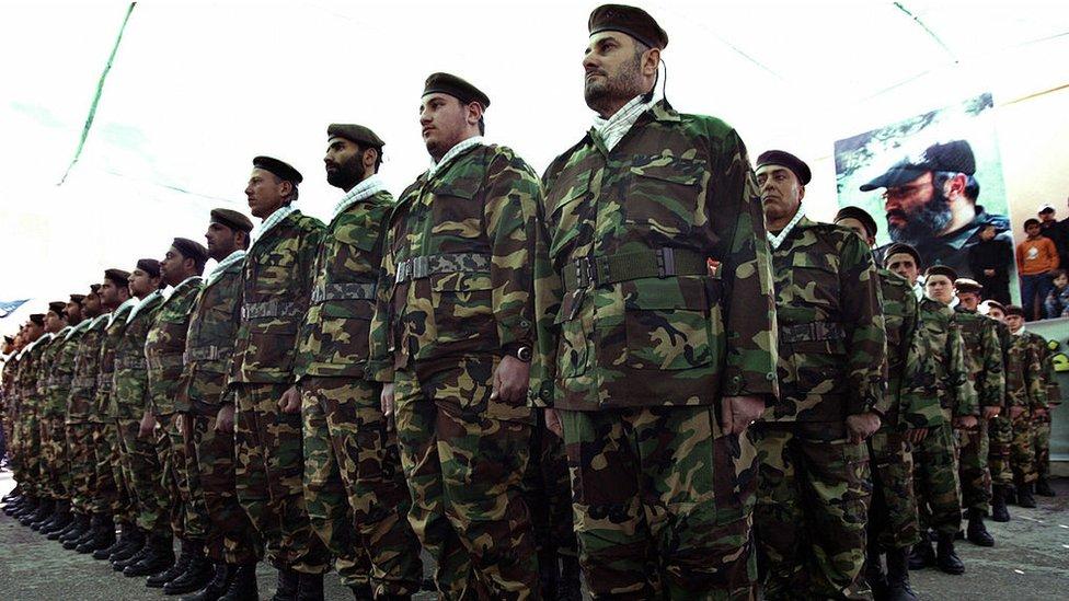 Milicianos de Hezbolá.