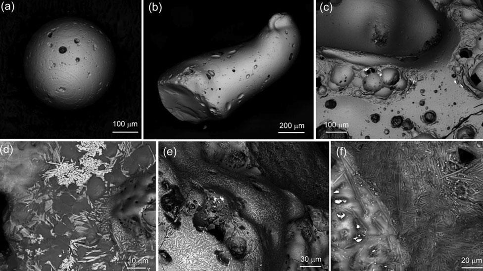 Partículas de Hiroshima vitas con microscopios de electrones