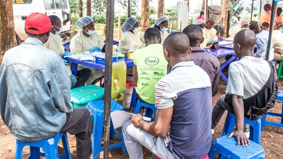 Campaña de vacunación contra el ébola en RDC.