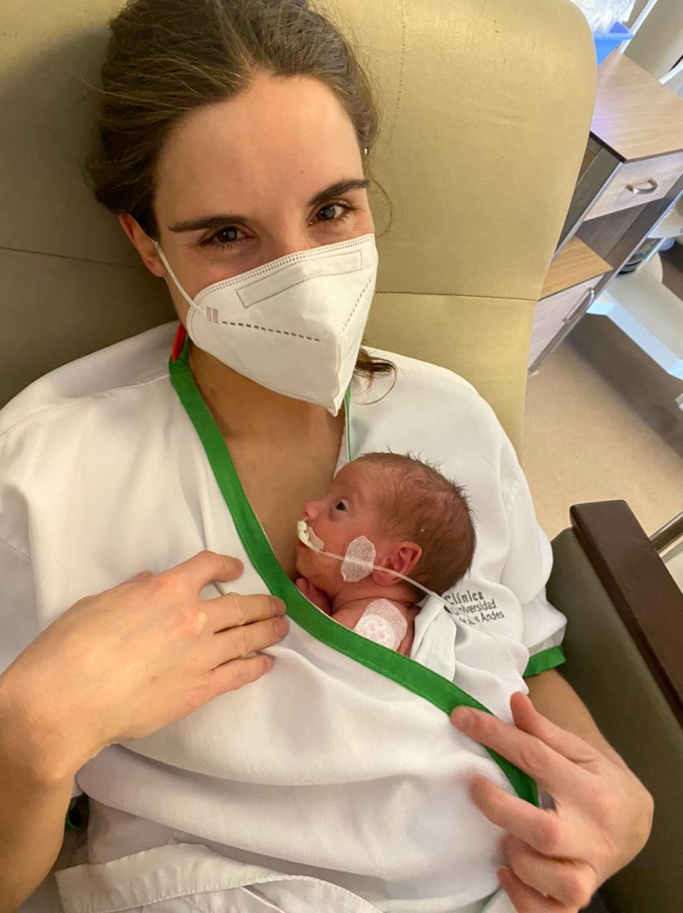 Verónica Julio junto a su hija Jacinta