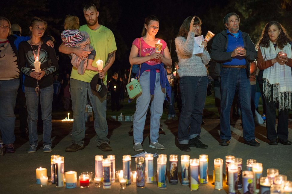 A vigil was held for the victims