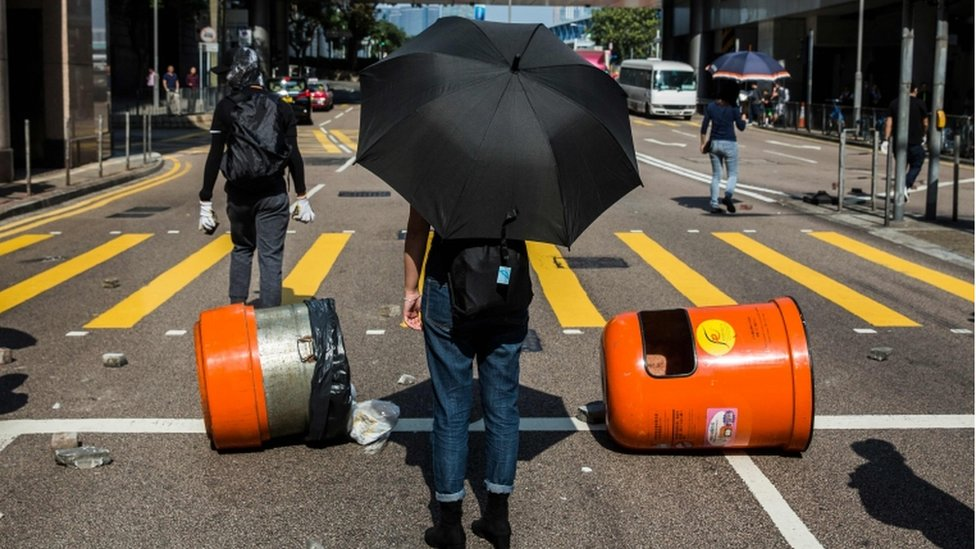 Roadblocks and other travel disruption continue unabated in Hong Kong