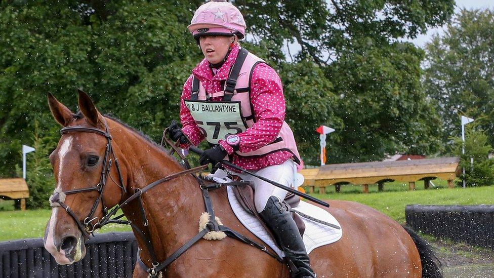 Rider Natasha Galpin 22, dies after fall at Iain Jardine stables