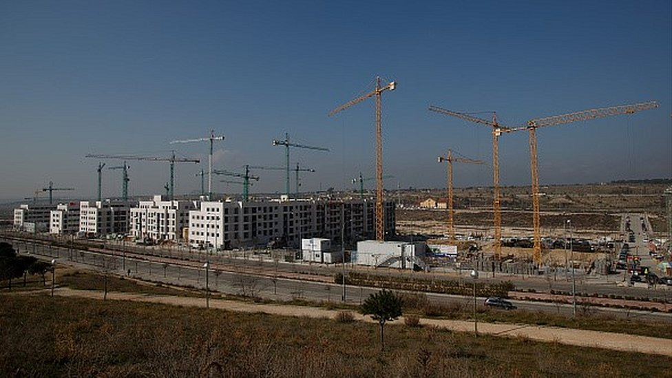 Construction site in Madrid
