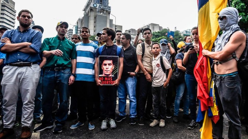 Protesta por la muerte de Juan Pablo Pernalete.