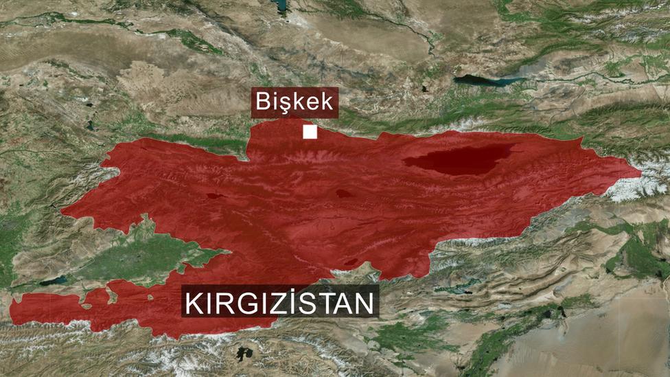 Kırgızistan haritası