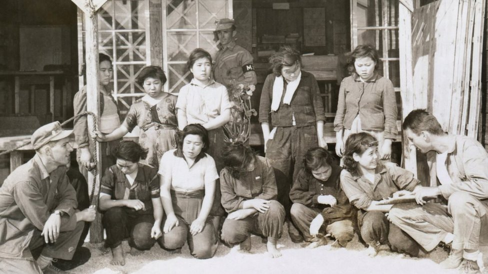 Liberated Comfort Women on Okinawa during World War Two