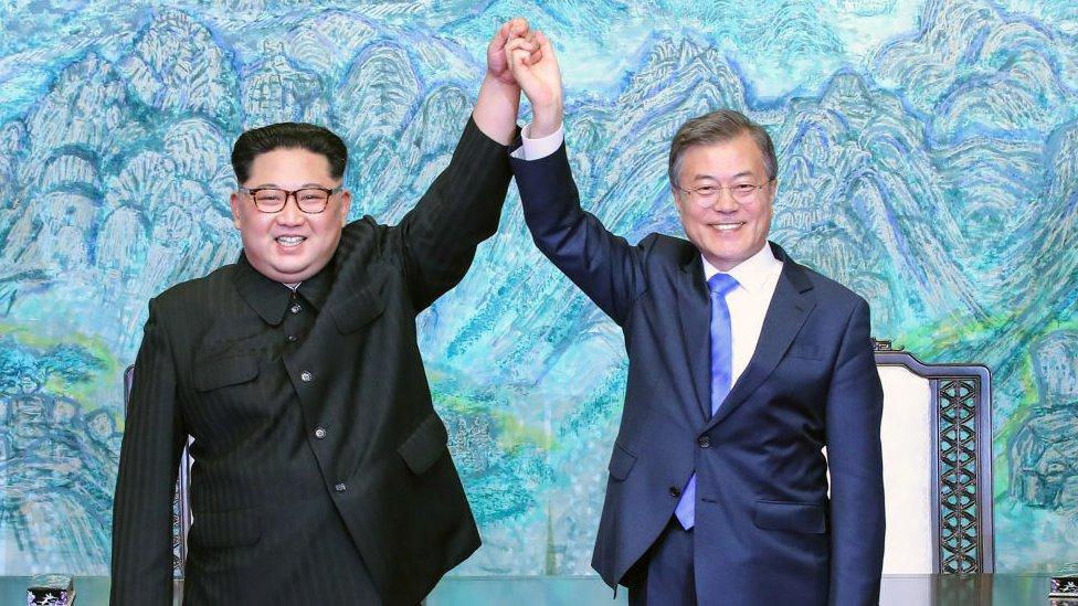 Kim y Moon.