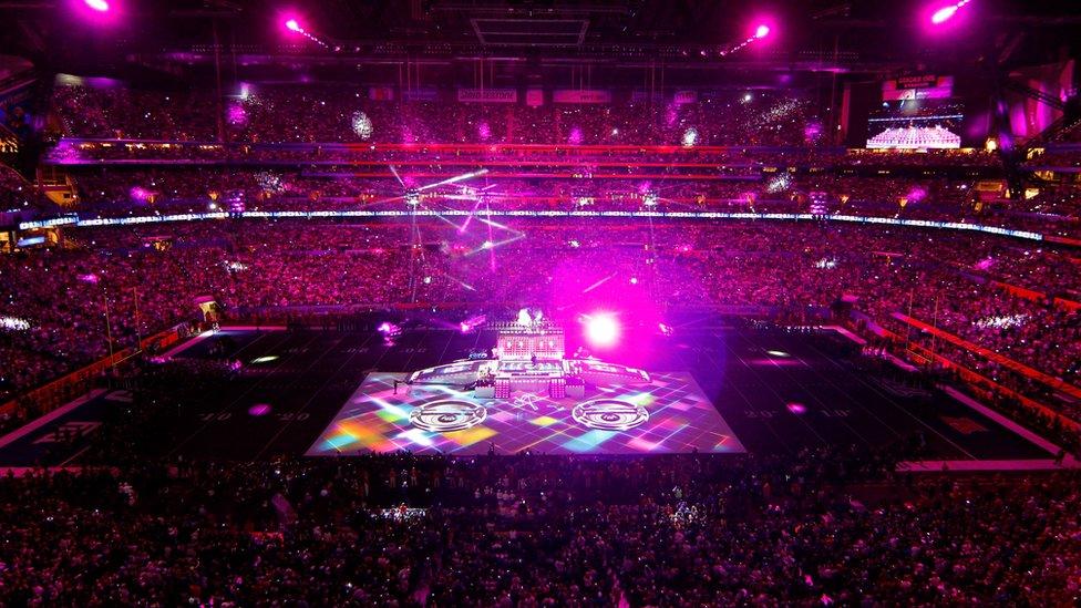Madonna performs during the Bridgestone Super Bowl XLVI Halftime Show at Lucas Oil Stadium on February 5, 2012 in Indianapolis, Indiana