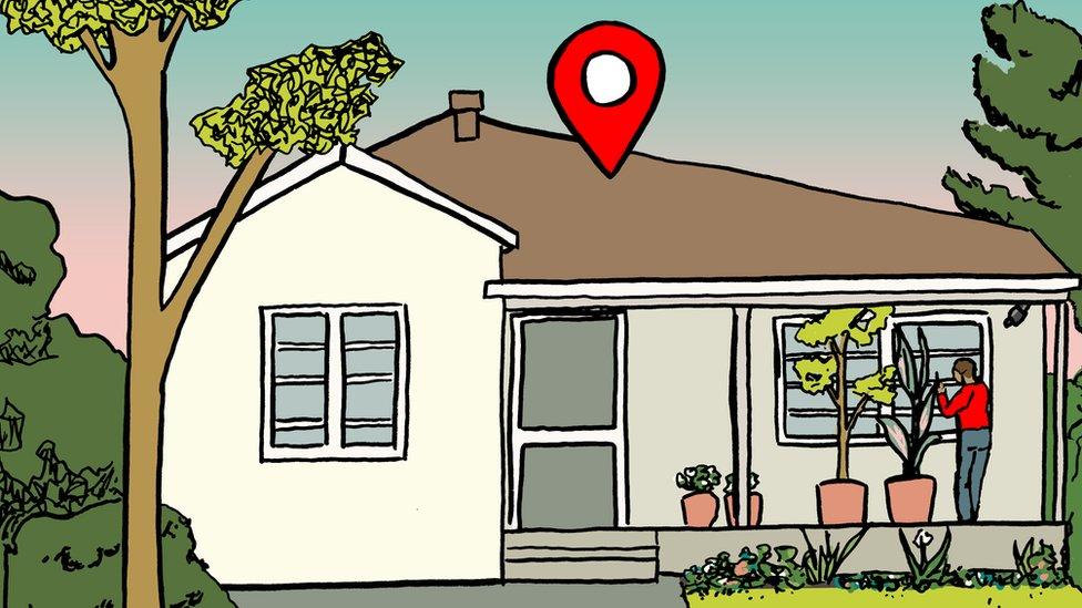 ilustración, casa