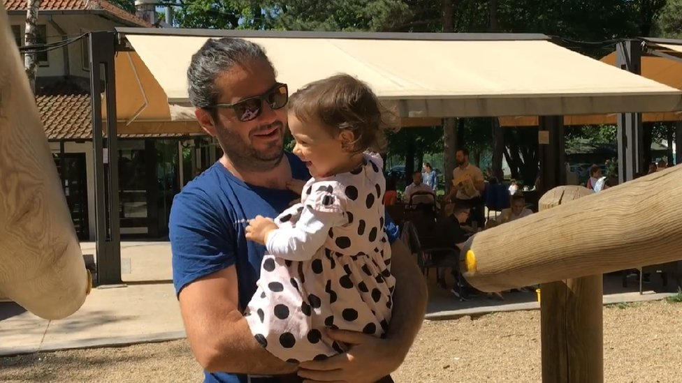 Dobrivoje Lale Erić s kćerkom