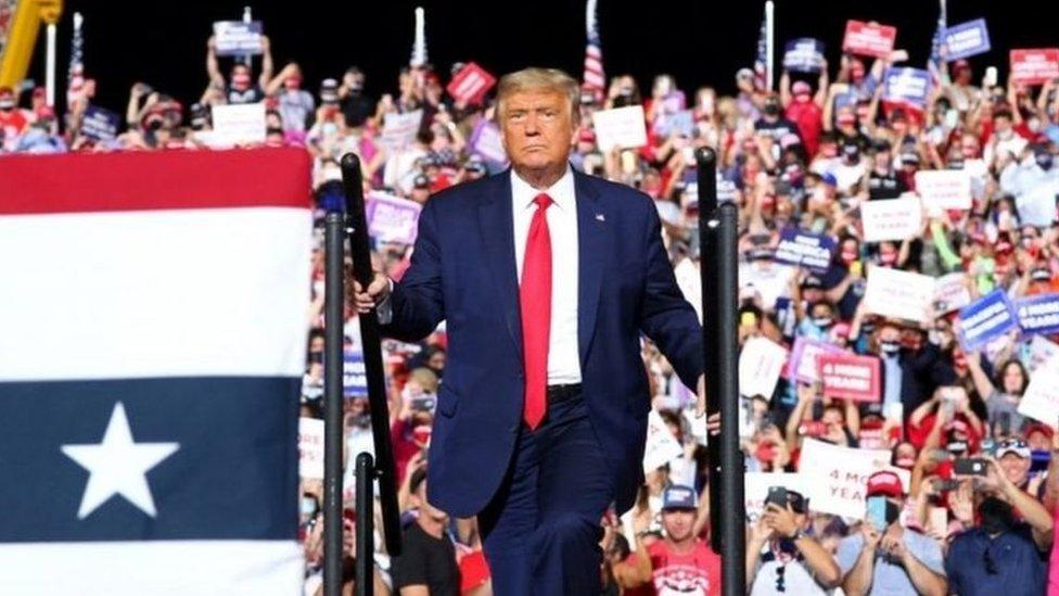 ABD Başkanı Donald Trump'ın mitinglerinden biri
