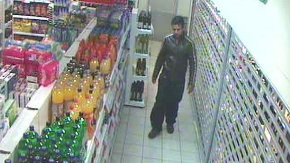 Vyas caught on CCTV