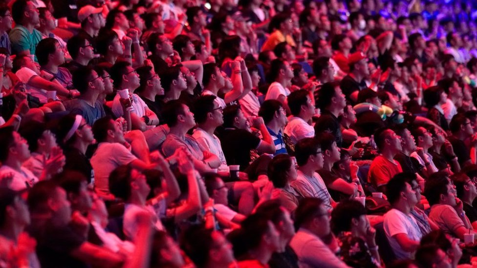 Crowd at the international 2019