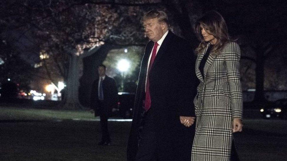 Trump tiba di Gedung Putih dari KTT NATO di London.