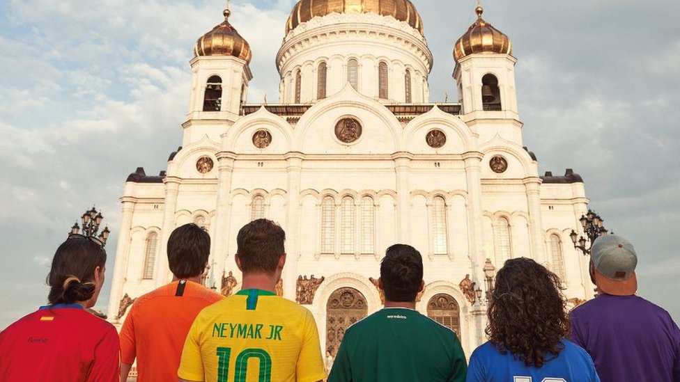 The activists toured iconic places in Russia