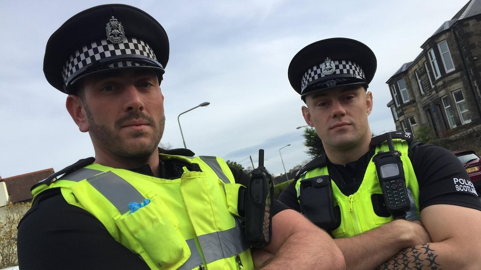 PCs Christopher Robertson and Liam Arbuthnott