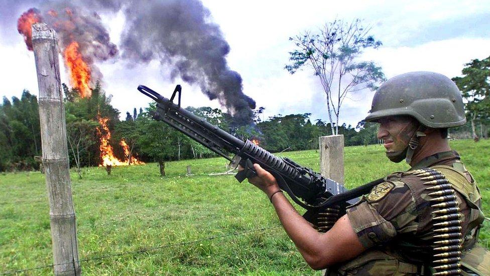 Soldado colombiano.