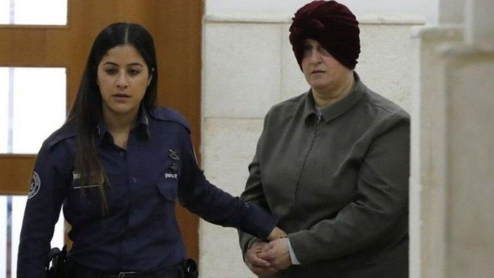 مالكا ليفر لحظة وصولها جلسة استماع في المحكمة الجزئية في القدس في وقت سابق
